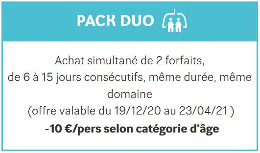 Pack duo La Plagne