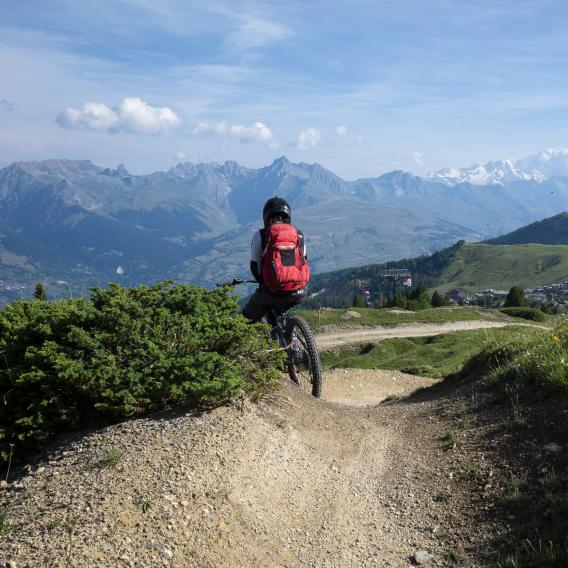 VTT vue Colorado Bike Park La Plagne
